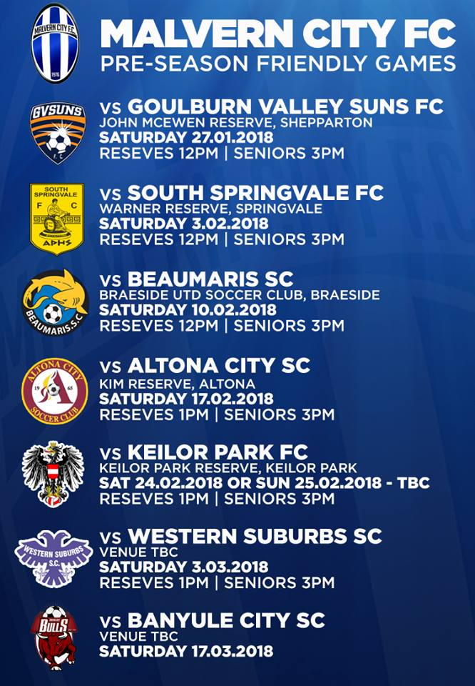 2018 Pre-Season Friendly Games
